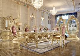 Traditional Dining Room Set 9 Pcs In Yellow Wood Traditional Style Homey Design Hd 8086