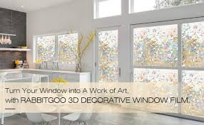 Rabbitgoo Privacy Window Film Frosted Film No Glue Anti Uv Window Sticker White Frosted Window Cling Non Adhesive For Privacy Office Meeting Room Bathroom Bedroom Living Room 35 4 X 70 8 Globegou Co Ltd Window