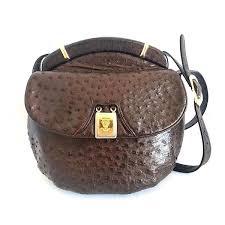genuine ostrich leather fisherman bag