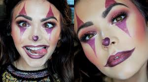 cute clown halloween makeup tutorial