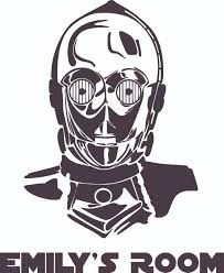 Star Wars C3po Robot Character Design Customized Wall Art Vinyl Decal Custom Vinyl Wall Art Personalized Name Baby Girls Boys Kids Bedroom Decal Room Wall Sticker Decoration Size 10x10