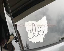 Cleveland Decal Etsy