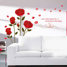 New Removable Red Rose Life Is The Flower Quote Wall Sticker Mural Decal Home Room Art Decor Diy Romantic Delightful Creative Home Decor Olivia Decor Decor For Your Home And Office