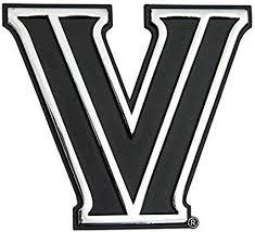 Amazon Com Wincraft Villanova University S4380818 Chrome Free Form Auto Emblem Sports Outdoors
