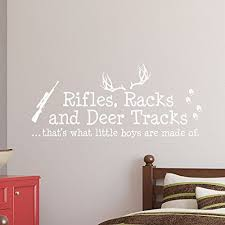 Rifles Racks And Deer Tracks Thats What Little Boys Are Made Of Wall Decal Sign Little Boys Sticker Kids Room Decor Hu Room Decals Kid Room Decor Kids Stickers