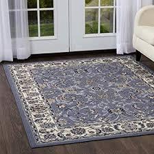 area rug 5x7 blue white black