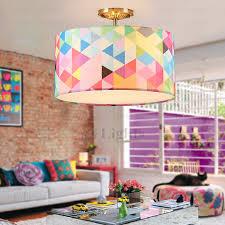 Pop Art Drum Shaped 3 Light Kids Room Ceiling Light