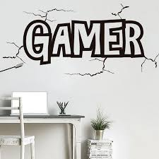 Game Wall Decals Gamer Wall Stickers Decor Gaming Play Room Art Mural Video Gamer Kids Bedroom Home Decor N251 Wall Stickers Aliexpress