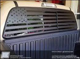 Custom American Flag Rear Window Decal Choose Your Size Truck Decals Rear Window Decals Custom Trucks