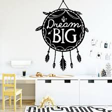 Creative Dream Big Waterproof Wall Stickers Home Decor For Kids Room Living Room Home Decor Home Party Decor Wallpaper Wish