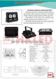Đèn pha led ngoài trời 100W tròn IP65 - Thương hiệu HKled - HKLED - Sản  xuất đèn LED tại Việt Nam