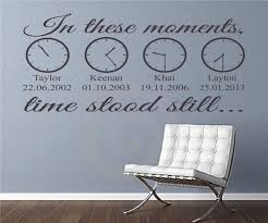 Amazon Com In These Moments Time Stood Still A Moment In Time Changed Forever Names Dates Times Wall Decal Sticker Art Home Decor Family Wall Art Home Kitchen