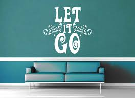 Let It Go Frozen Quote Wall Decal Geekerymade
