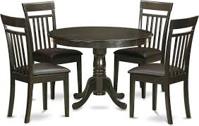 East West Furniture Hartland 5 Piece Small Kitchen Table Set Small Table And 4 Kitchen Chairs Hlca5 Cap Lc Goedekers Com