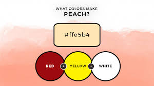 what colors make peach how to make