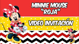 Minnie Mouse Roja Invitacion De Cumpleanos Youtube