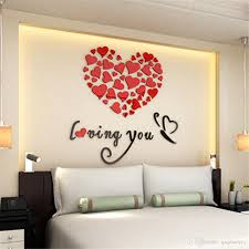 Art 3d Acrylic Love Heart Wall Stickers Bedroom Living Room Wedding Decoration Wall Stickers Muraux Wallpaper Stickers For Bedroom Walls Stickers For Bedroom Walls Removable From Qiqihaercc 43 42 Dhgate Com