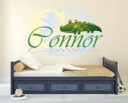 Alligator Custom Name Series Nursery Baby Boy Wall Decal Vinyl Sticker Ebay