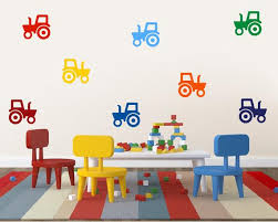 Tractor Wall Stickers Tractor Wall Decals Boy Party Favour Etsy