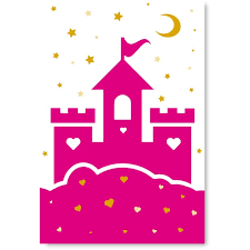 Awkward Styles Princess Castle Illustration Girls Room Wall Art Pink Decals Baby Girl Room Decor Baby Girl Room Decorations Princess S Room Girls Play Room Wall Decor Pink Canvas Decor Ideas Walmart Com