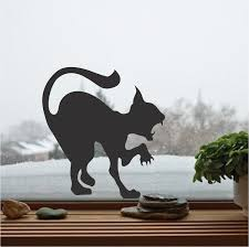Attacking Cat Silhouette Wall Sticker Scary Cat Vinyl Decals For Home Halloween Holiday Decor Art Wall Poster Home Decor Wm 48 Vinyl Decal Cat Vinyl Decalwall Sticker Aliexpress
