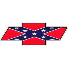 Chevy Bowtie Logo Decal Sticker Rebel Flag Solid