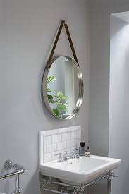 dipre wall mirror brushed stainless