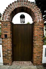 Entry Gate With Brick Work Gates And Fencing Landscaping Network Calimesa Ca Brick Archway Arch Entryway Brick Arch