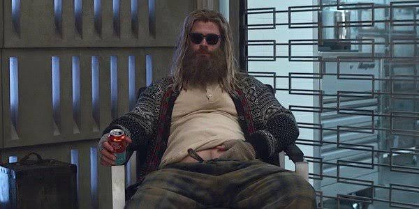 Endgame introduced a Thor that was severely affected by the events of Infinity War, as well as the beginning events of Endgame