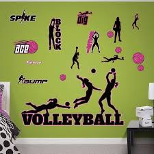 Shop Fathead Volleyball Collection Real Decals 6 7 X 4 4 Wall Vinyl Overstock 17752642