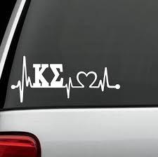 For Kappa Sigma Heartbeat Lifeline Decal Sticker Fraternity Sorority Surface Car Styling Car Stickers Aliexpress