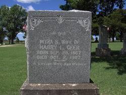 Myra Bell Bailey Geer (1867-1907) - Find A Grave Memorial