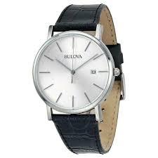 96b104 silver dial dress watch