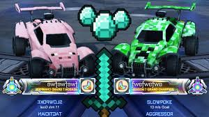 Minecraft Cars In Rocket League Youtube