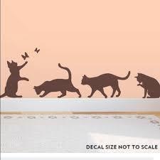 Wallums Wall Art Nwot Cat Silhouettes Wall Decals Poshmark