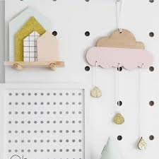 Cute Cloud Rain Woodchips Set Wood Banner For Kids Bedroom Wall Decal Decoration Bed Backgro Kids Bedroom Wall Decor Kids Bedroom Diy Kids Bedroom Wall Decals
