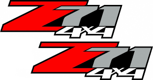 Product 2 Chevy Z71 Off Road 4x4 Truck Decal Sticker X2