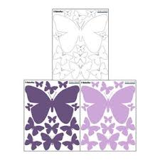 Pretty Purples White Butterfly Wall Decals Contemporary Wall Decals By Create A Mural
