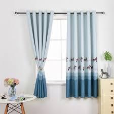 Beautiful Printed Short Curtains For Children Room Soft Hand Feeling High Quality Drapes For Living Room Kids Bedroom Taragoblythet