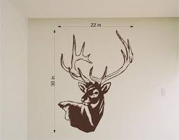 Deer Head Mount Wall Decals Mural Home Decor Vinyl Stickers Decorate Y