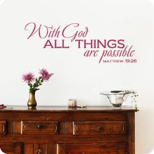 With God All Things Are Possible Staggered Version