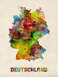 Watercolor Map Art Fine Art America