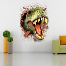 3d Animal Dinosaur Wall Sticker Diy Removable Wall Decals Wallpaper Decorative Art Mural Home Decor Mural Wall Print Decal Buy Dinosaur Stickers 4 Year Old Boy Gifts Party Favors Product On Alibaba Com