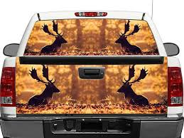 Product Moose In Autumn Rear Window Or Tailgate Decal Sticker Pick Up Truck Suv Car