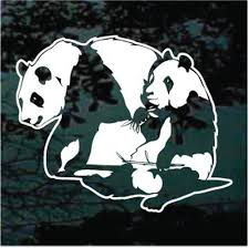 Mama Panda Bear With Cub Car Window Decals Stickers Decal Junky