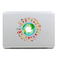 Shop Geekid Macbook Decal Sticker Partial Decal Macbook Pro Decal World Macbook Air Decal Apple Sticker Mac Retina Decals Stickers Online From Best Laptop Accessories On Jd Com Global Site Joybuy Com