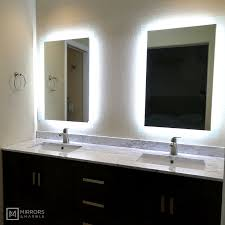 side lighted led bathroom vanity mirror