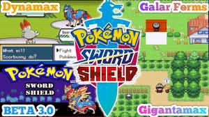 Pokémon Sword & Shield GBA Rom Hack 2020 With Gen 8, Gigantamax ...