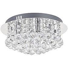 modern round crystal chandelier light