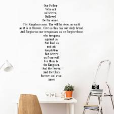 Amen The Lords Prayer Wall Stickers Vinyl Cross Wall Decal Christian Nursery Livingroom Decor Removable Lettering Murals Lc110 Wall Sticker Wall Decorwall Decals Aliexpress